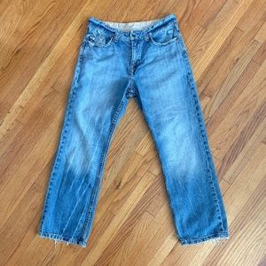 Express King Of Prides Distressed Boot Cut Jeans